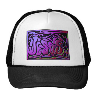 Jesus purple neon Christian gift design Trucker Hat
