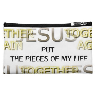 Jesus Put the Pieces Cosmetic Bag Cosmetics Bags