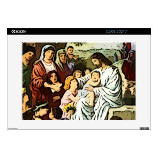 Jesús que bendice a los niños portátil 38,1cm skins