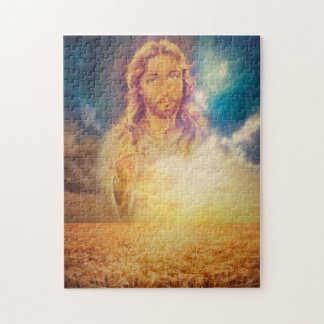 Jesús que bendice rompecabezas religioso santo