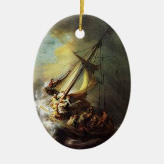 Jesús que calma la tormenta en el mar de Galilea O Ornamente De Reyes