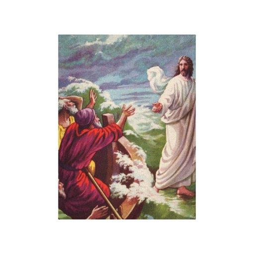 Jesús que calma la tormenta lienzo envuelto para galerías