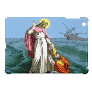 Jesús que camina en el agua iPad mini funda