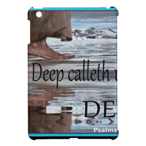 Jesús que camina en el agua iPad mini cárcasa
