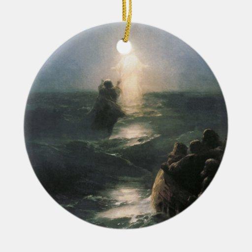 Jesús que camina en el agua, pintura de Ivan Aivaz Ornato
