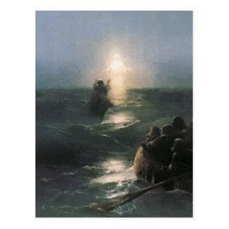 Jesús que camina en el agua, pintura de Ivan Postal