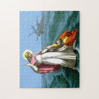 Jesús que camina en el agua puzzles