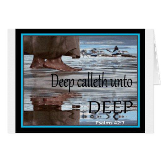 Jesús que camina en el agua tarjetón
