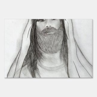 Jesús que coloca II Letrero