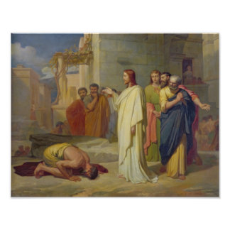 Jesús que cura al leproso 1864 impresiones