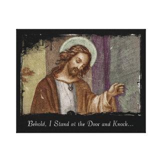 Jesús que golpea en puerta impresiones de lienzo