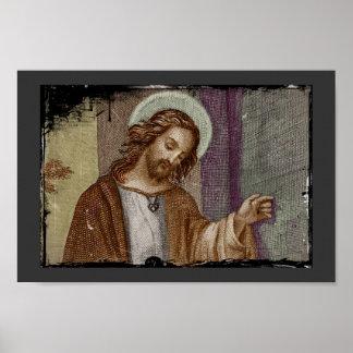 Jesús que golpea en puerta póster