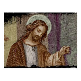 Jesús que golpea en puerta postales