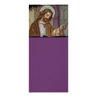 Jesús que golpea en puerta tarjeta publicitaria