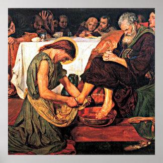 Jesús que lava los pies de Peter (2) Póster