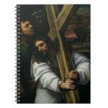 Jesús que lleva la cruz, c.1535 (aceite en el pane libretas espirales