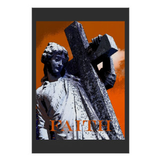 Jesús que lleva la cruz póster