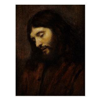 Jesús que mira hacia abajo postales