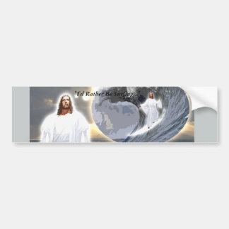 Jesús que practica surf Bumpersticker Pegatina Para Auto