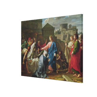 Jesús que resucita al hijo de la viuda de Naim Impresión En Lienzo