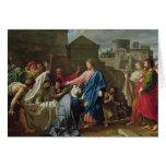 Jesús que resucita al hijo de la viuda de Naim Tarjeta