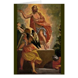Jesús que sube de la tumba tarjeta
