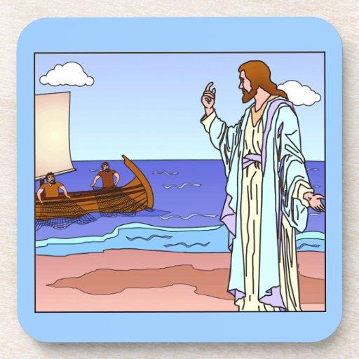 Jesús que tienta al sistema del práctico de costa  posavaso