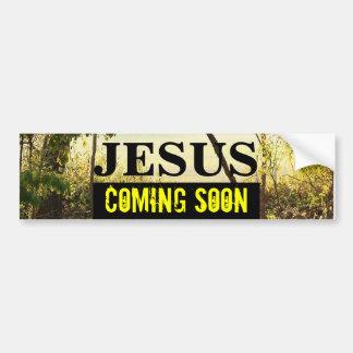 JESÚS QUE VIENE PRONTO pegatina para el parachoque Pegatina Para Auto