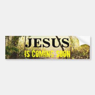 JESÚS QUE VIENE PRONTO pegatina para el parachoque Pegatina De Parachoque