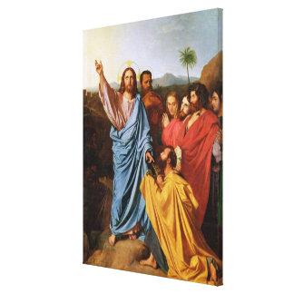 Jesús que vuelve las llaves a San Pedro, 1820 Lona Estirada Galerías
