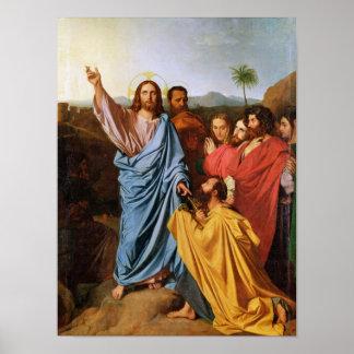 Jesús que vuelve las llaves a San Pedro, 1820 Póster