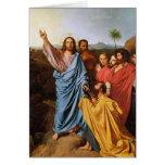 Jesús que vuelve las llaves a San Pedro, 1820 Tarjeta