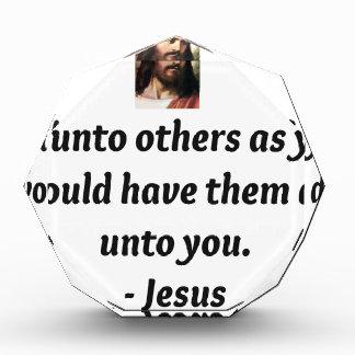 Jesus Quotes Acrylic Award