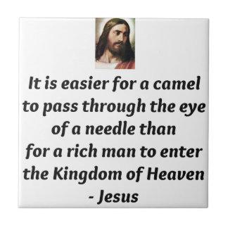 Jesus Quotes Small Square Tile