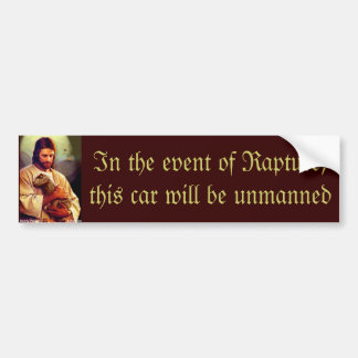 Jesus rapture dinosaur bumper sticker