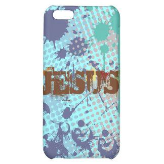 Jesus raster brown splash by christianstores iPhone 5C cases
