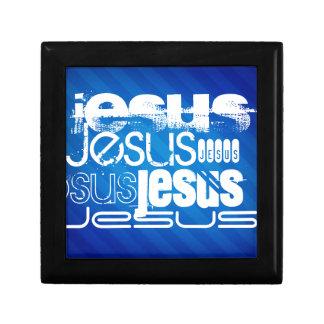 Jesús; Rayas azules reales Caja De Recuerdo