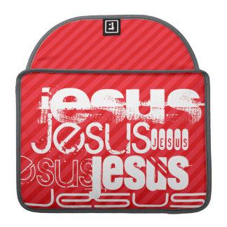 Jesús; Rayas del rojo del escarlata Funda Para Macbook Pro