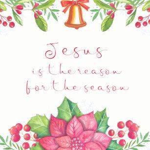 jesus reason for season quote christmas ceramic ornament