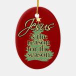 Jesus Reason for the Season Personalized Ornament