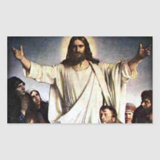 Jesus Rectangular Sticker