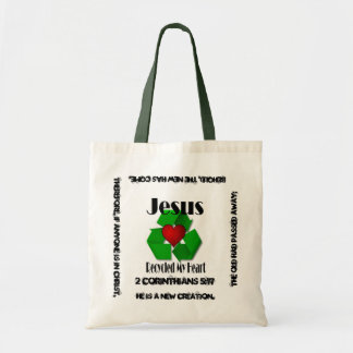 Jesus Recycled My Heart Budget Tote Bag