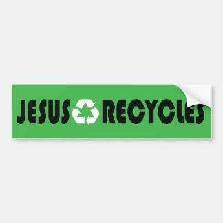Jesus Recycles Car Bumper Sticker