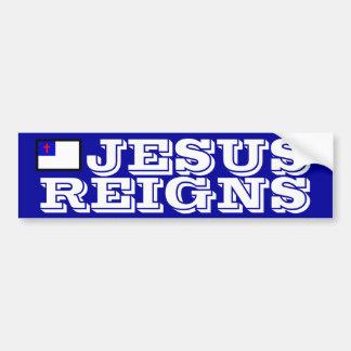 Jesus Reigns Car Bumper Sticker
