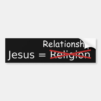 Jesús relación pegatina de parachoque