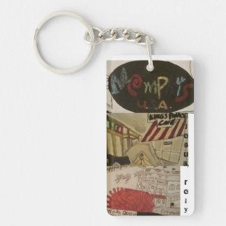 Jesus, rely/Memphis art keychain!