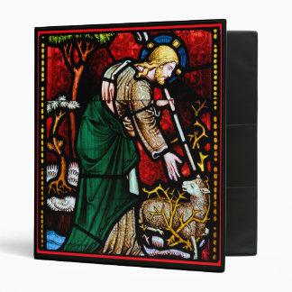 Jesús rescata un cordero del vitral de dios