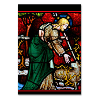Jesus Rescues a Lamb of God Card