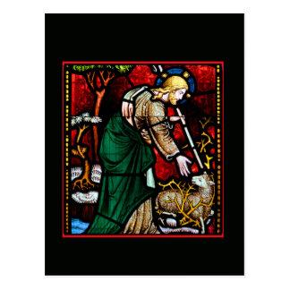 Jesus Rescues a Lamb of God Postcard