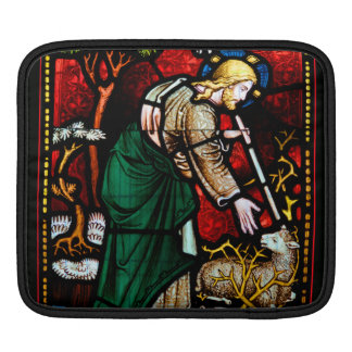 Jesus Rescues a Lamb of God Stained Glass Sleeve For iPads